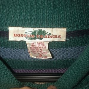 Sweaters - A Striped Vintage Turtle Neck Sweater